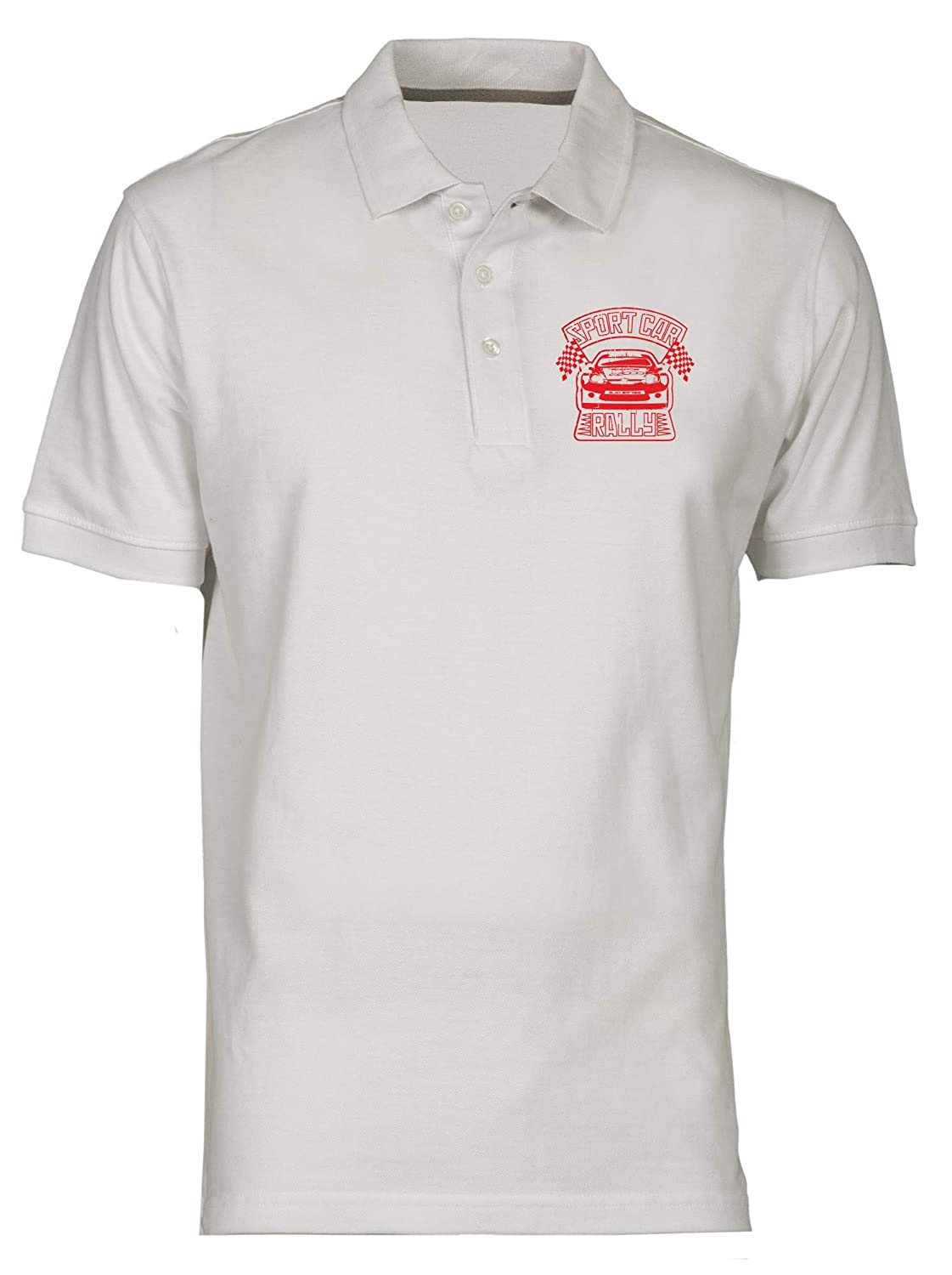 Polo por Hombre Blanco TB0051 Sport Car Rally: Amazon.es: Ropa y ...