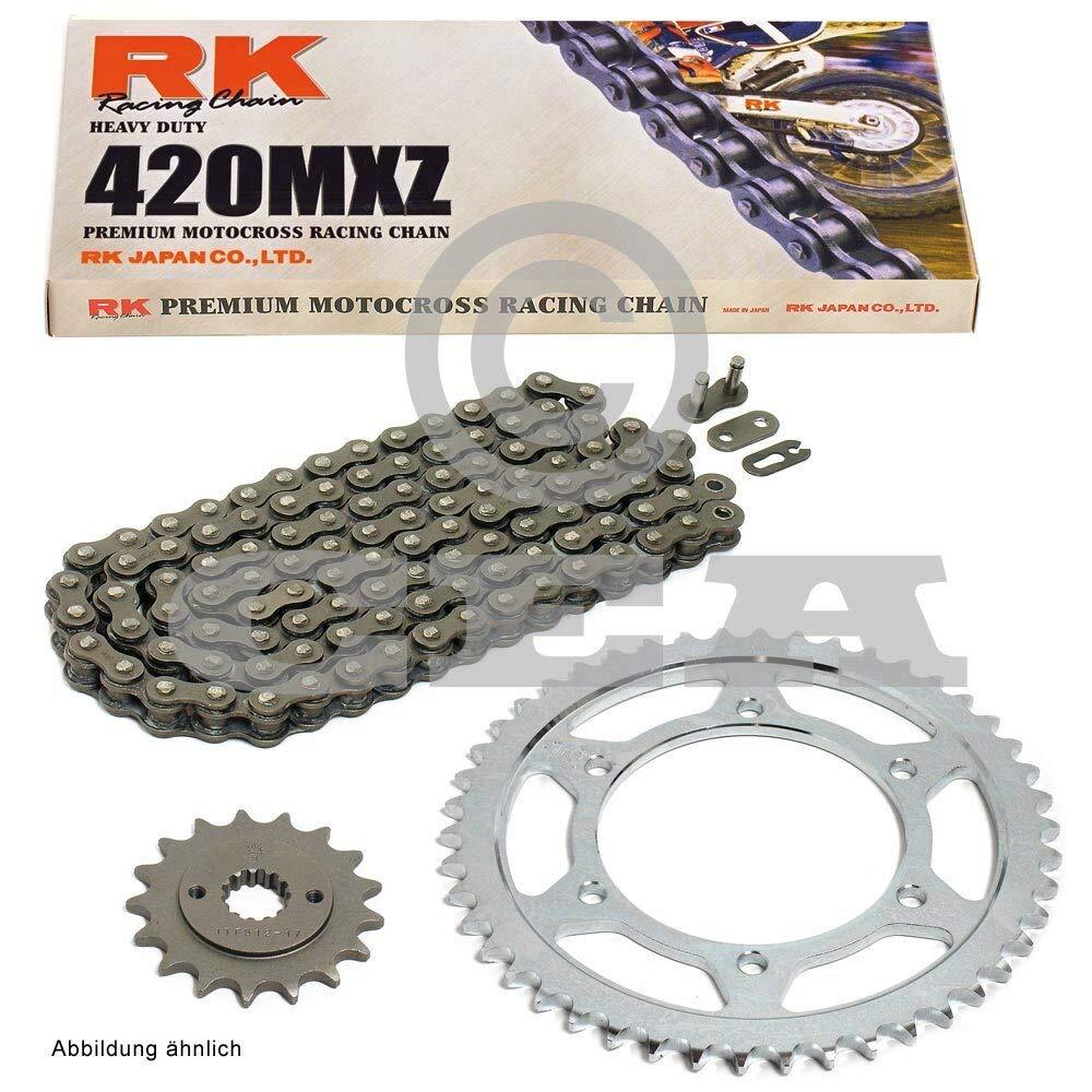 Kettensatz geeignet f/ür Honda MSX 125 Grom 13-19 Kette RK 420 MXZ 106 offen 15//34