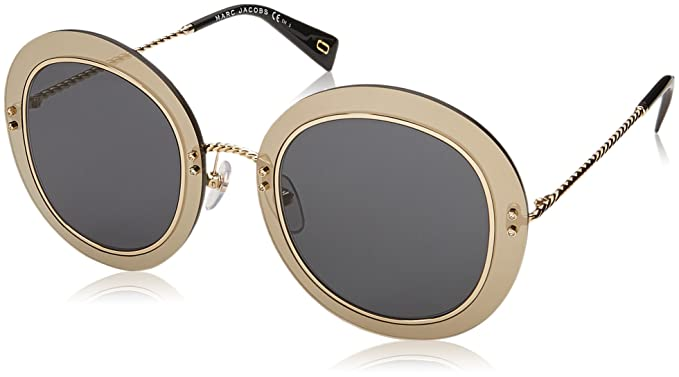 f53c504da6 Image Unavailable. Image not available for. Color  Marc Jacobs Women s  Marc262s Polarized Round Sunglasses BLK GOLD 51 mm