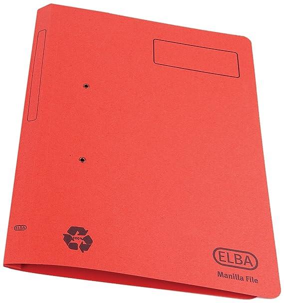 Elba 30612 Spirosort - Carpeta con fastener (DIN A4, papel reciclado de 315 g, lomo 35 mm, 25 unidades): Amazon.es: Oficina y papelería