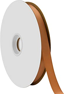 """product image for Offray Berwick 5/8"""" Single Face Satin Ribbon, Coffee Brown, 100 Yds"""