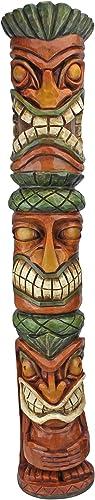 Design Toscano CS22670 31 in. Moai Haku Pani Tiki Statue,woodtone