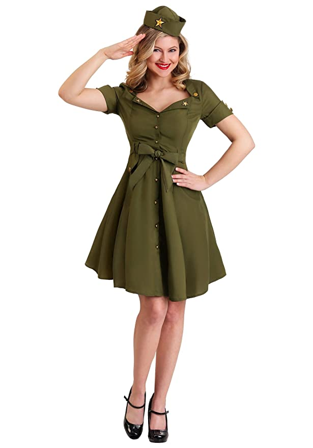 1940s Costumes- WW2, Nurse, Pinup, Rosie the Riveter Vintage Combat Cutie for Women $29.99 AT vintagedancer.com