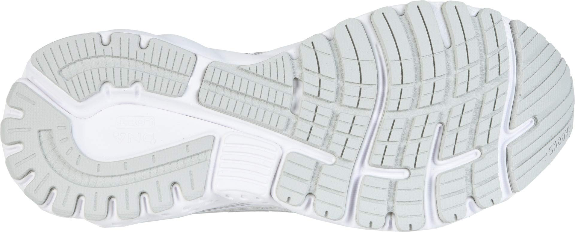 Brooks Women's Adrenaline GTS 19 White/White/Grey 5 D US by Brooks (Image #3)