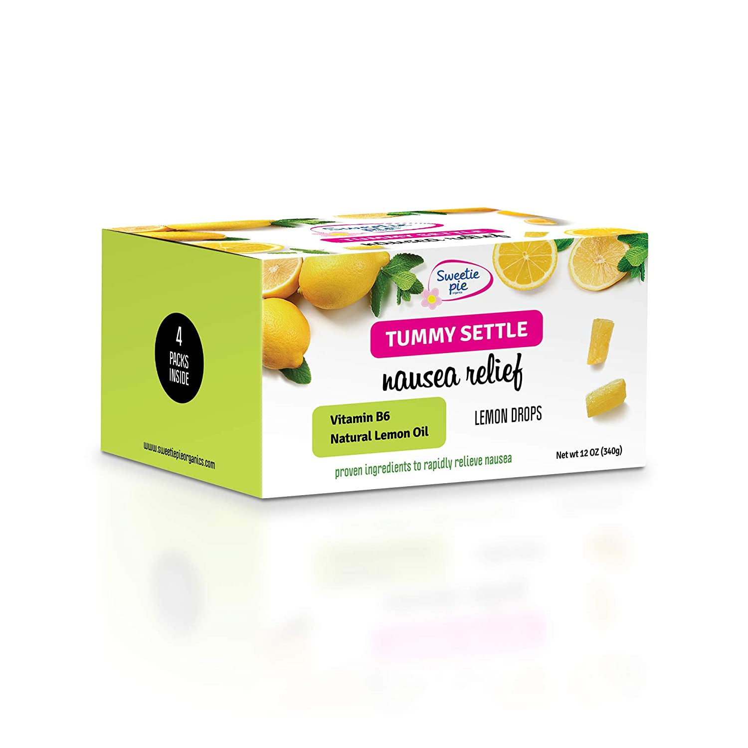 Sweetie Pie Organics Nausea Relief for Pregnant Women Lemon drops Candy  Drops for Morning