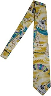 product image for Hawaii Neckties, Surf Dogs Yellow