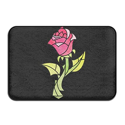 FRICSTAR Cool Doormats Rose Beauty And Beast Cool Outdoor Mats Indoor Door  Mats Non Slip