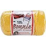 Pepperell 6mm Bonnie Macramé Craft Cord, 100-Yard, Sunshine Yellow