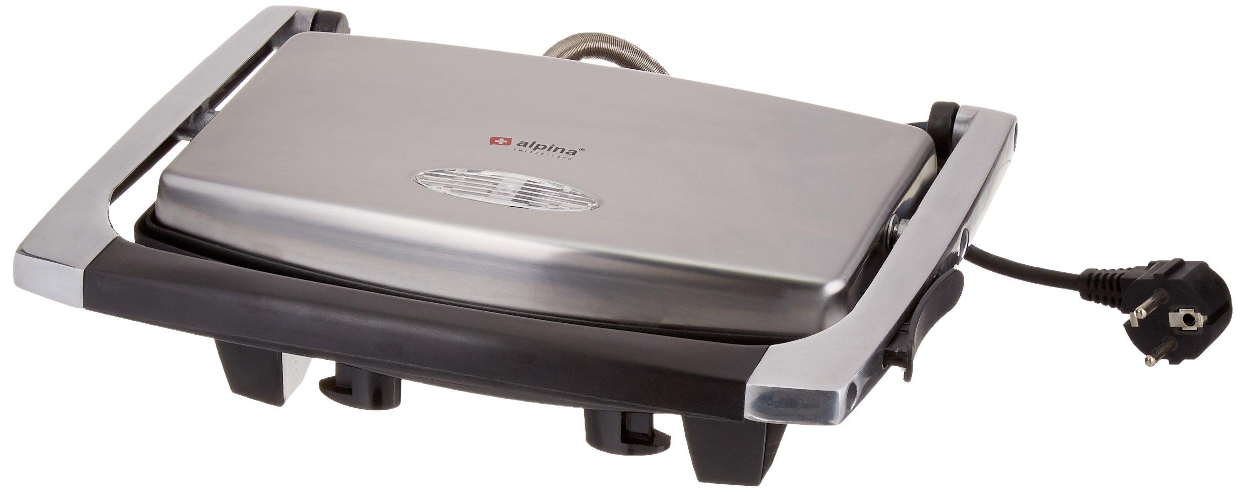 Alpina SF-6022 Panini Sandwich Grill, Silver