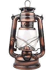 Farmer's Vintage Barn Oil Lantern Iron Kerosene Lamp Emergency Light (Copper Color)