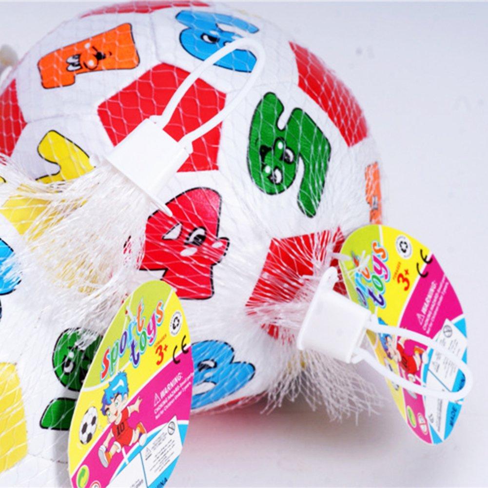 Amazon.com: Kid Mini inflable PVC Fútbol bolas dibujos ...