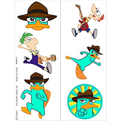 Disney Phineas And Ferb Agent P Tattoos 2 Sheets Party Accessory