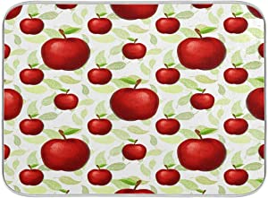 Dish Drying Mat Large Absorbent for Kitchen Counter, Drying Mats for Dishes 16 x 18 Inch, Fruit Apples Pattern