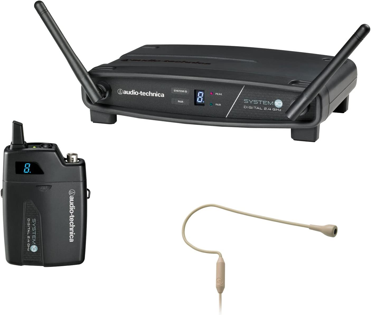Audio-Technica System 10 ATW-1101/H92-TH Wireless Beige Headworn Microphone System