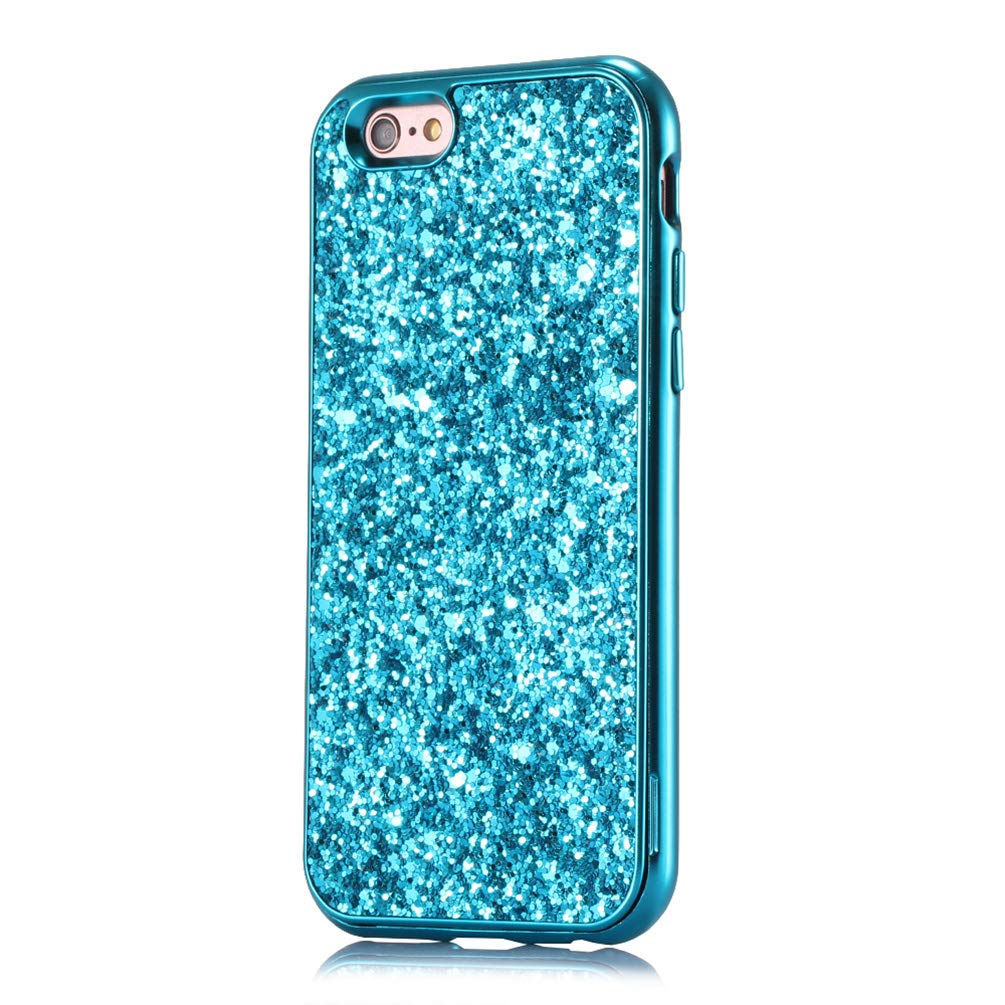 Coque iPhone 6 iPhone 6s Paillette, Coollee Housse Etui Anti-Choc Glitter Strass Brillante Bling Luxe Femme 360 Degres Protection Housse Dur Shell INTEGRAL Ultra Mince Bumper Smartphone Case Cover pour Apple iPhone 6/iPhone 6s 4.7, Argent Pailleté CL-Bling