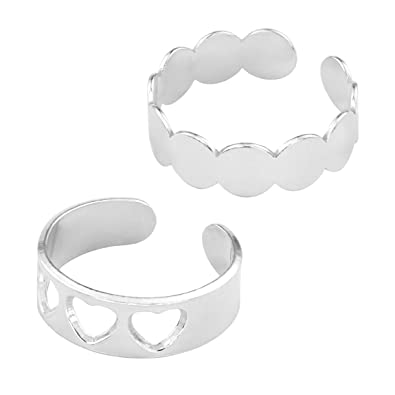 2d5d8c5936664 ARLIZI knuckle ring set hearts rounds sterling silver 1383: Amazon ...