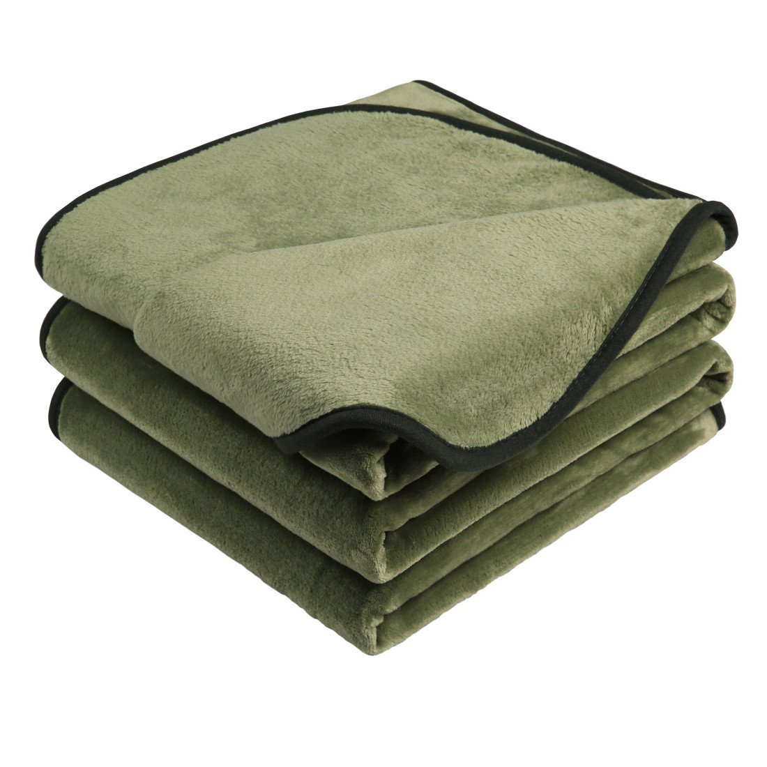 Emonia Luxury Fleece Blanket,330GSM ❤️ King Size Blankets Super Soft Warm Fuzzy Lightweight Bed & Couch Blanket(Olive Green,90 by 108 inch)