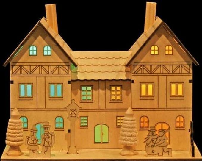 Noma Colour Changing Wood Manor House 2 Led Amazoncouk Lighting