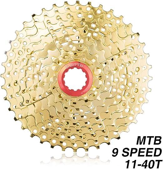 Cassette de 9 velocidades para bicicleta de montaña Piñón de rueda ...