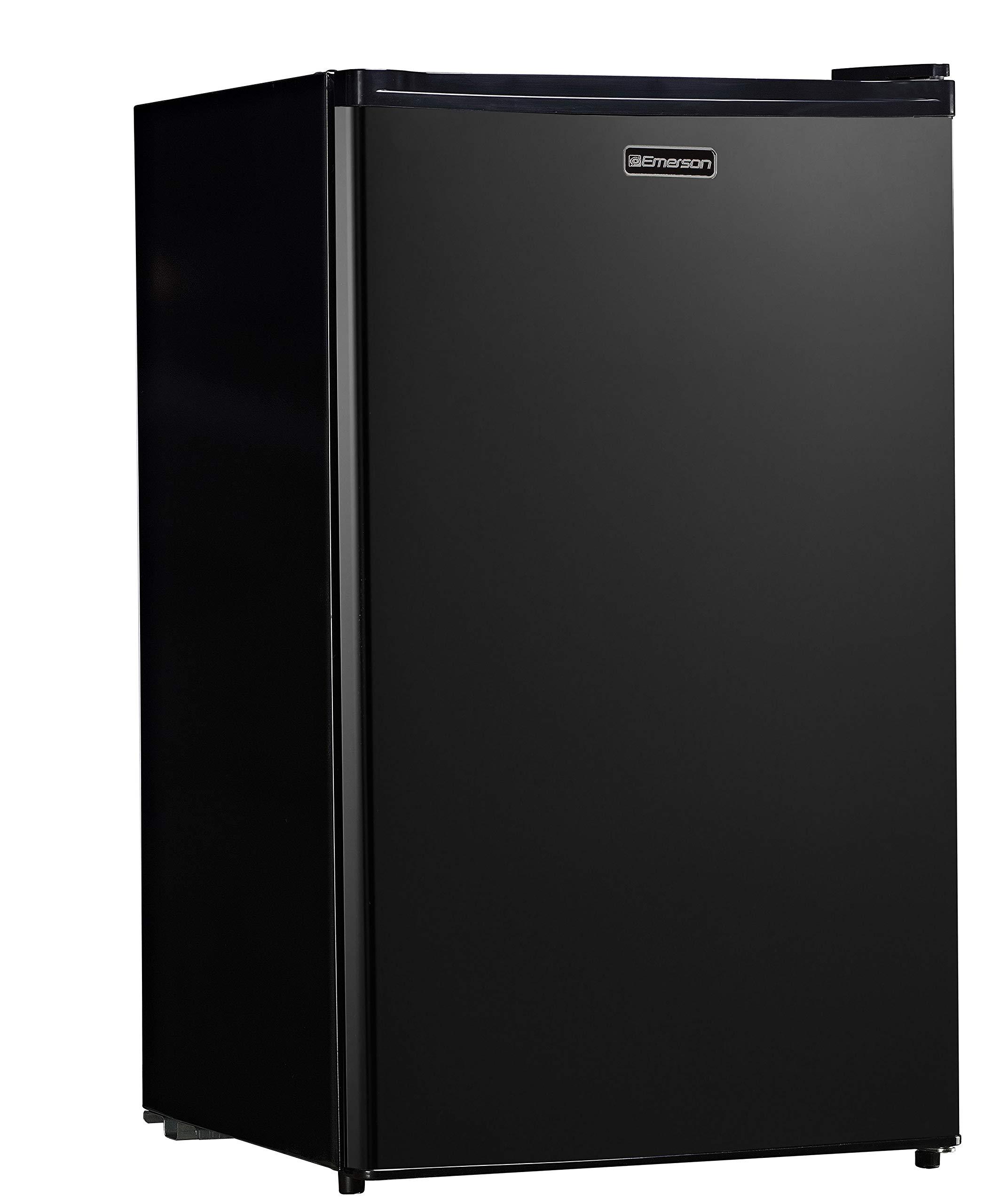 Emerson CR440BE 4.4 Cubic Foot Compact Single Door Refrigerator cu. ft, Black