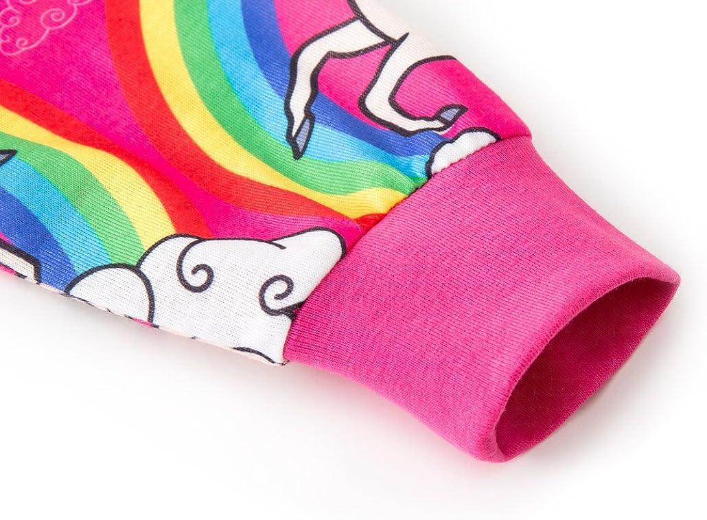 HenzWorld Unicorn Rainbow Costume Dress Up Christmas Night Pajamas Party Tops Pants Clothes Set 4-5 Years