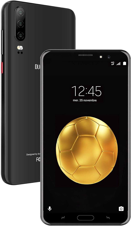 Moviles Libres 4G, DUODUOGO J5+ Android 9.0 5.5 Pulgadas 16GB ROM/128GB MAX Expansion 4800mAh Batería Face ID Dual Cámara, Dual SIM Bluetooth/WiFi Smartphone Libres(Negro)