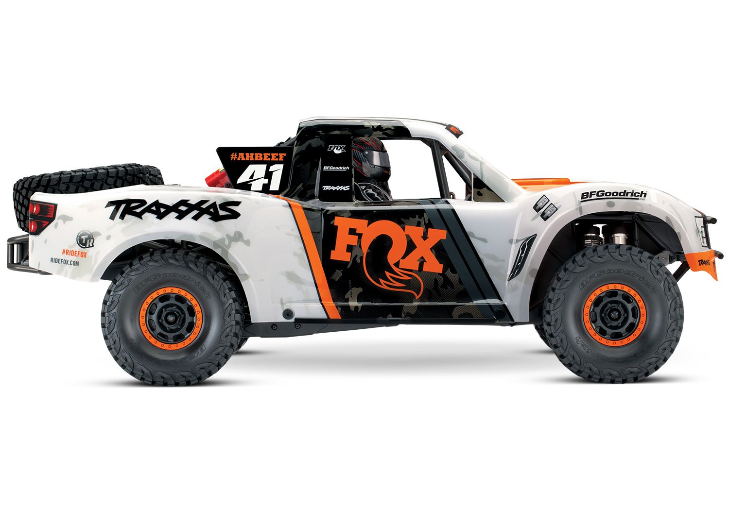Traxxas 85076 4 Unlimited Desert Racer 4x4 Rc Race Truck 1 10 Scale Slash Pro 2wd Short Course 58034 White Orange Toys Games