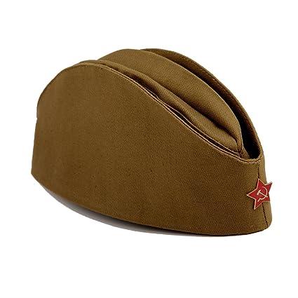 227139298 Soviet Army Pilotka Hat W/Red Star