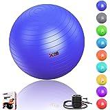 Xn8 Sports Yoga Gym Ball Maternity Pregnancy Birthing Anti Burst Gym Ball Swiss Ball 65cm and 75cm Exercise