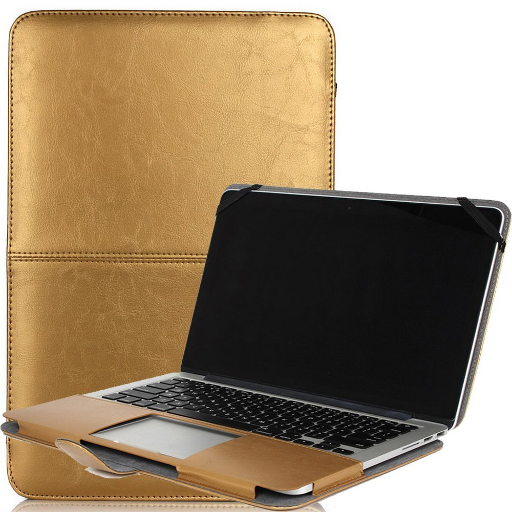 Macbook Air 11.6 Pouch,Businda Premium PU Leather Luxury Bookstyle Stand Folio Slim Fit Lightweight Stylish Classic Style Ultra Thin Retro Case for Macbook Air 11.6 Inch
