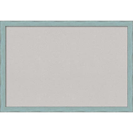 Amazon.com: Amanti Art Framed Grey Cork Board Sky Blue Rustic: Outer ...