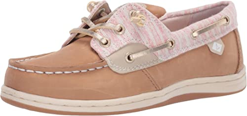 Sperry girls Songfish Boat Shoe, Linen