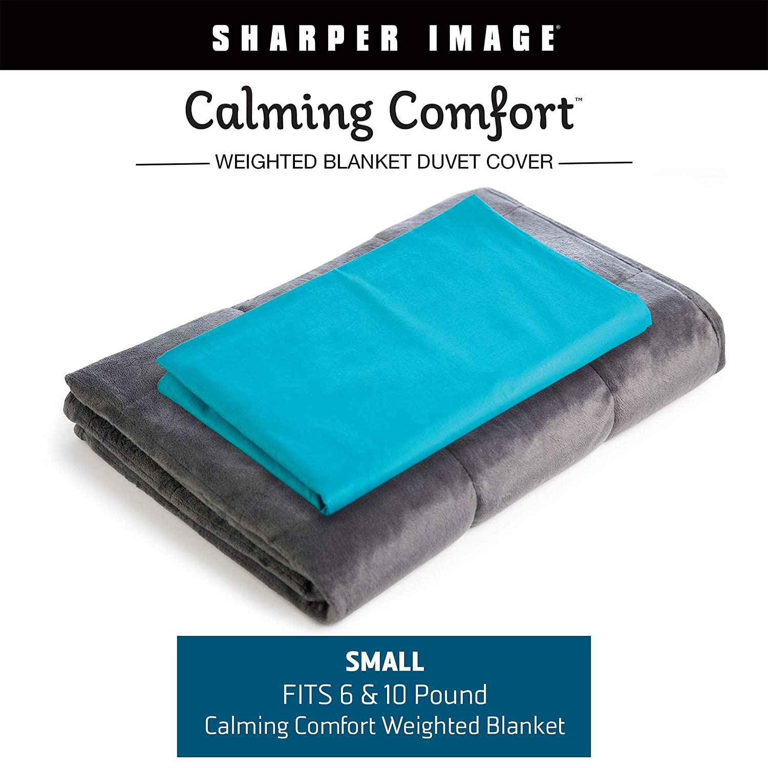 Amazoncom Calming Comfort By Sharper Image Weighted Blanket Duvet
