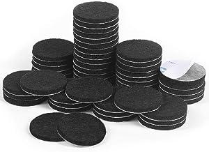 Felt Pads,50 Pieces Furniture Pads Self Adhesive Round Furniture Feet Protectors for Hardwood & Laminate Flooring(Black)