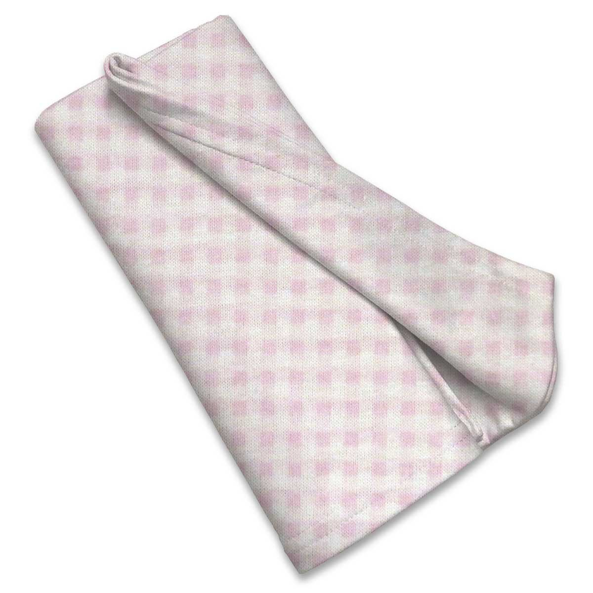 SheetWorld Soft & Stretchy Swaddle Blanket 36 x 36, Pink Gingham Check, Made in USA by SHEETWORLD.COM