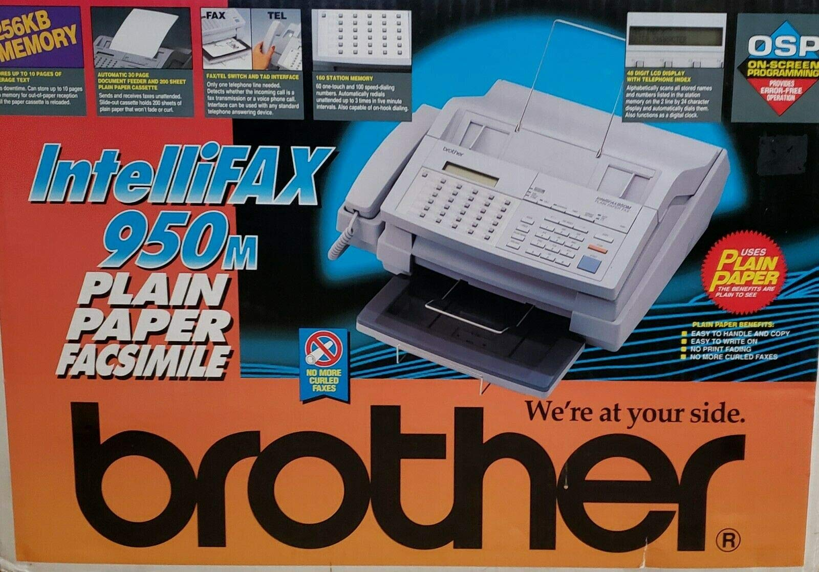 Brotheer IntelliFax 950M Plain Paper Facsimile Fax Machine