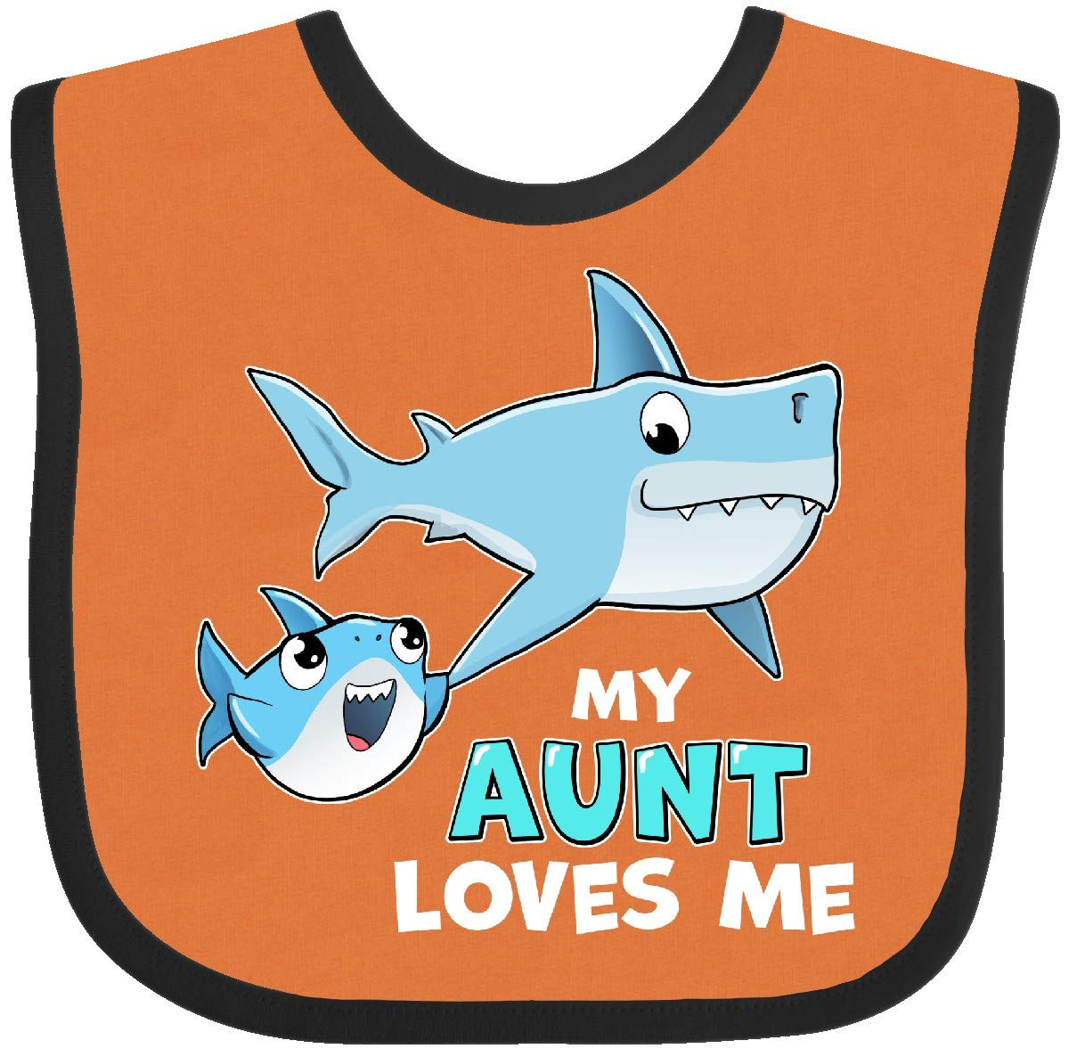 inktastic My Great Aunt Loves Me with Cute Sharks Baby T-Shirt