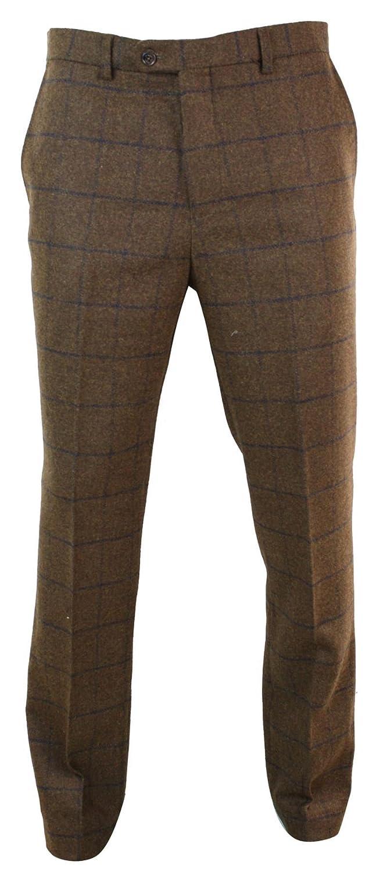 d93f156d48b2d Carreaux Pantalon À Rétro Tweed Chevrons Laine En Vintage Homme ...