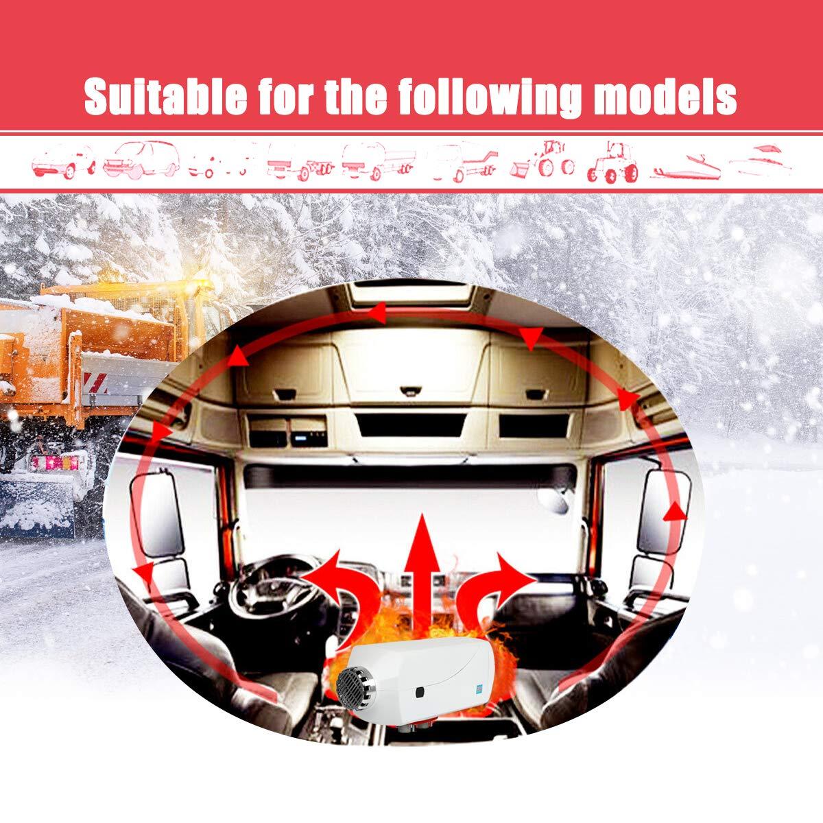 Green Triclicks Riscaldatore di Parcheggio ad Aria Diesel 5KW 12V,Aerotermo per Interni con Monitor LCD Remoto per Camper,Roulotte,Camion,Barche