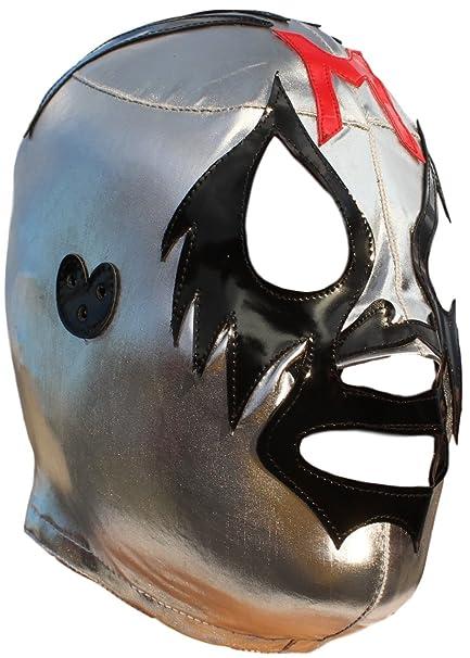 Mil Máscaras alta calidad Lycra máscara de lucha libre Luchador adultos tamaño plata
