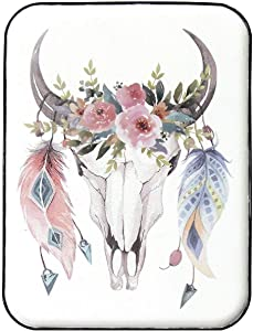 "Stratton Home Décor Stratton Home Decor Boho Cow Skull Wall Art, 12.00"" W X 0.39"" D X 16.00"" H, Multi"