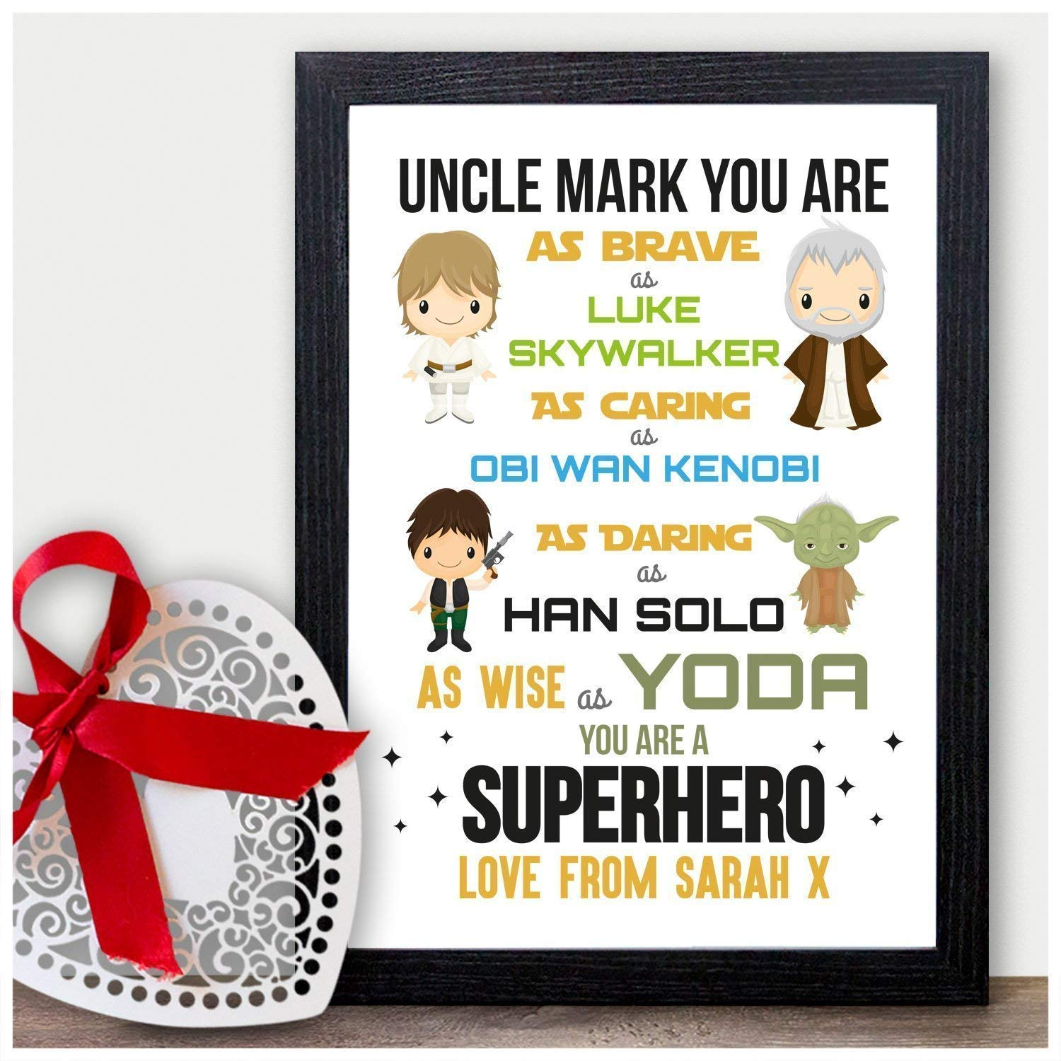 Christmas Presents For Brother.Starwars Personalised Christmas Gifts For Uncle Xmas