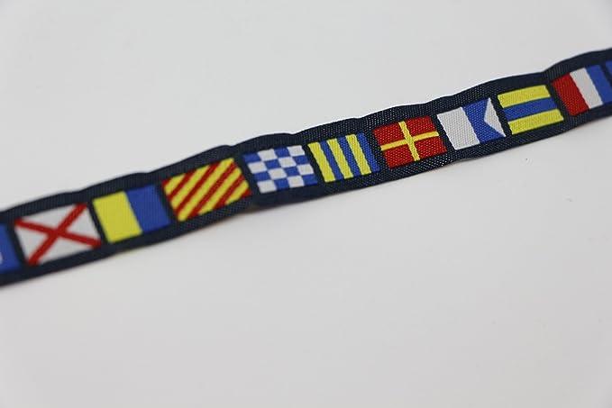 Pulsera banderas nauticas codigo señales capitan 32 cms azul