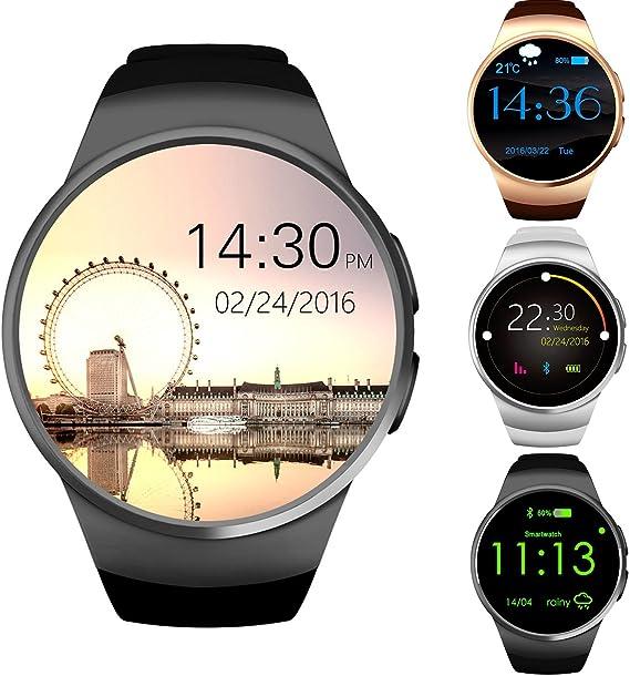 Reloj inteligente Bluetooth GPCT [Android/iOS] con pantalla táctil, resistente al agua, con monitor de entrenamiento/sueño/frecuencia cardíaca, para ...