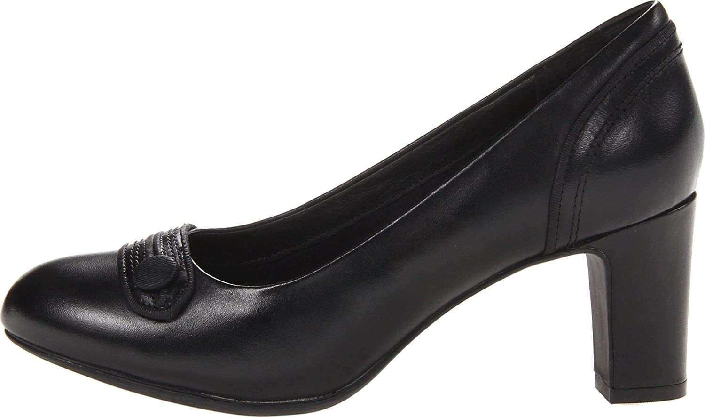 Amazon.com | CLARKS Women's Tamryn Cider, Black Leather, 9 B-Medium | Pumps