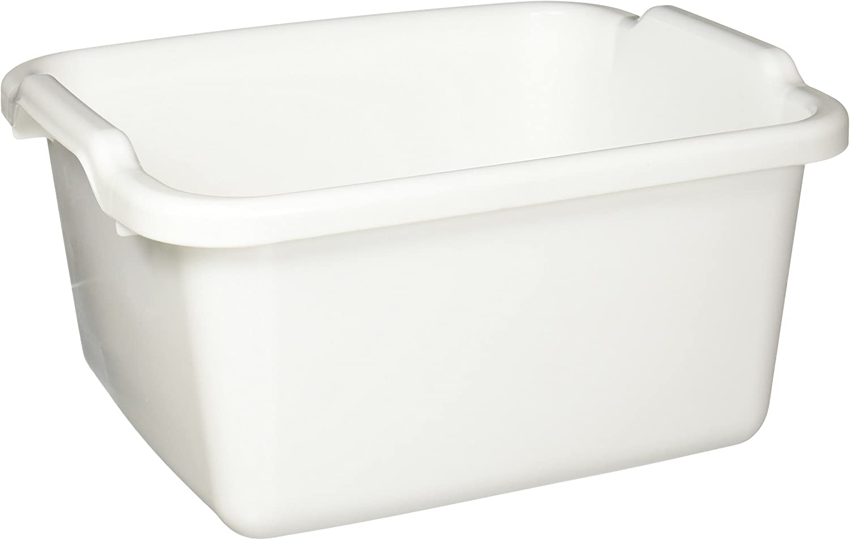 L Plastic  Dish Pan  White W x 15-1//2 in Rubbermaid  7-3//4 in H x 12-3//4 in