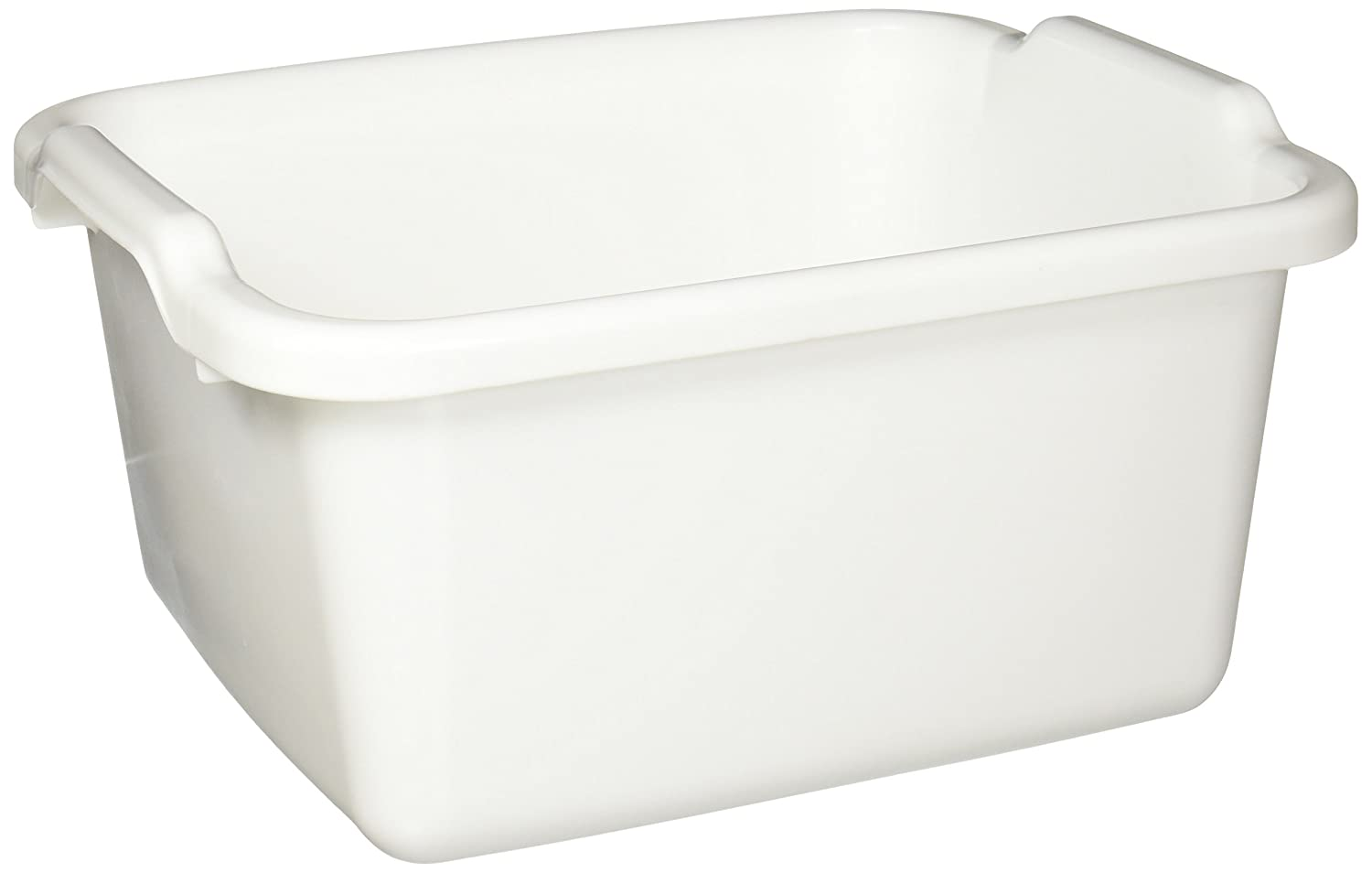 Rubbermaid Antimicrobial Dish Bucket, 15.6-Quart, Clear (FG2970ARWHT)