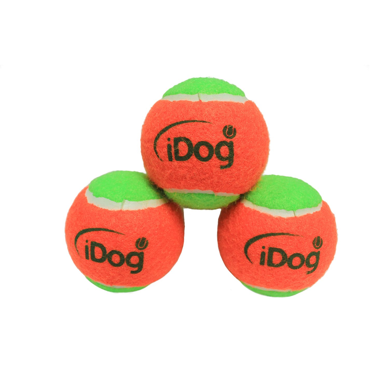 3 Pack IDOGMATE 2.5  Dog Fetch Ball Safe Rubber Balls for Big Midi Ball Launcher (3 Pack)