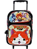 """Yokai Watch Large School 16"""" Rolling Backpack Boy's Book Bag Authentic License"""
