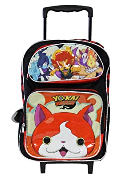 Yokai Watch Large School 16 Rolling Backpack Boys Book Bag Authentic License by AI